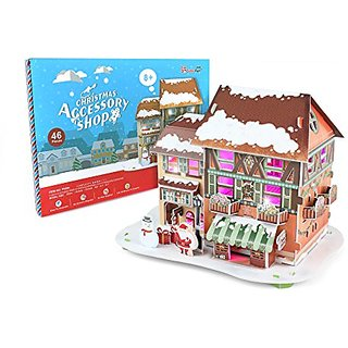 Daron Christmas Accessory Shop 3D Puzzle with Lights (46-Piece)