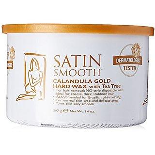 Satin Smooth Calendula Gold Hard Wax with Tea Tree Oil, 14 Ounce