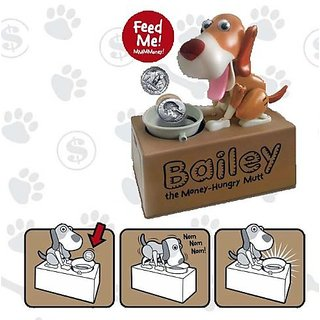 Dog Mechanical Piggy Bank- Watch Him Eat Your Coins! - Colors May Va