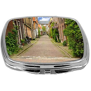 Rikki Knight Compact Mirror, Old Town in Holland, 3 Ounce