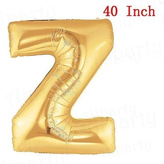 aiParty 40 inch Gold letters