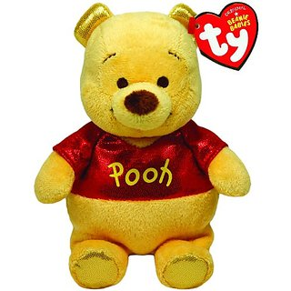 Ty Beanie Buddies Winnie The Pooh Sparkle Medium Plush