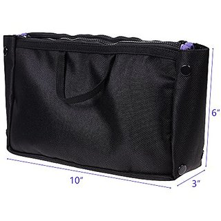 KLOUD City Sorted Colors Nylon Travel Handbag Pouch Bag in Bag Tidy Bag (Black)
