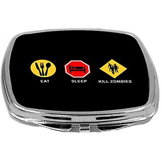 Rikki Knight Compact Mirror, Eat Sleep Kill Zombies, 3 Ounce