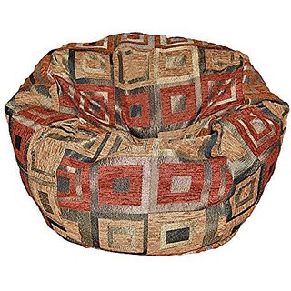 Ahh! Products Chenille Squares Washable Kid Bean Bag Chair