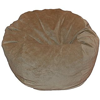 Ahh! Products Microsuede Tan Washable Kid Bean Bag Chair