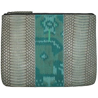 Beirn Ikat Cobra Cosmetic Bag (Aqua)