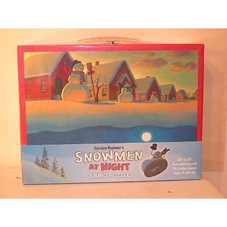 Caralyn Buehners Snowmen at Night Jumbo Floor Puzzle