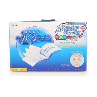 COTTON LABO Multi-Layer Cotton Makeup Puff, 80 Count
