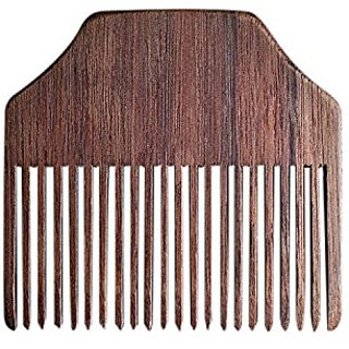 Handcrafted in Canada, Walnut Wood Fine-Toothed, No-Snag Pocket Beard Comb, Smooth, Non-Toxic Finish, Natural And Organi