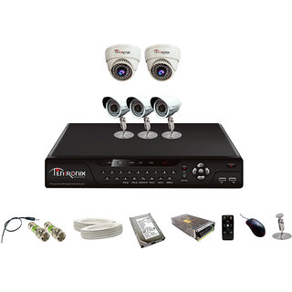 8 Channel H.264 Network DVR with 5  800 TVL 36 IR  Dome & Bullet Cameras