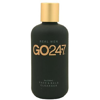 Go24-7 Real Men Face & Bald Cleanser 8oz