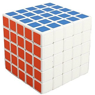 YKL World 5x5x5 5x5 Sticker Puzzle Magic Cube,White