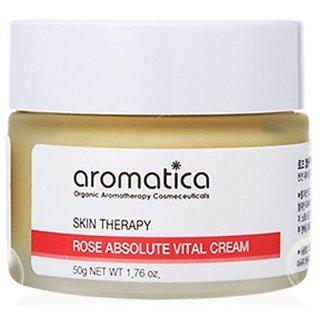 Aromatica Rose Absolute Vital Cream 1.7oz, Anti-wrinkle & Whitening