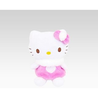Hello Kitty Pink Heart Dress Mascot Plush: Spring