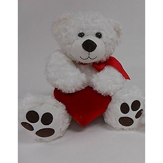 Smitten Teddy Bear Plush Toy with Red Heart (1780S, Red Heart)