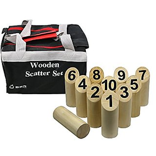 Uber Games Wooden Scatter Set - 10 Pins