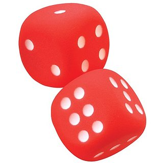 Voit Tuff Coated Foam Dice (One-Pair)