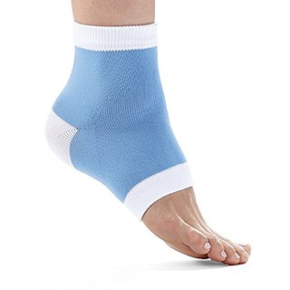 FitDio Therapeutic Cracked Heel Repairing Gel Socks, Baby Blue, 6 Count