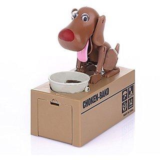 T-Pro Choken Bako Dog Bank Robotic Coin Munching Toy Money Box Brown