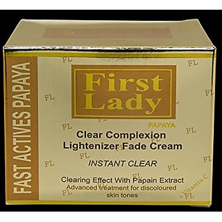 First Lady Papaya Skin Lightening Cream, Whitening, Bleaching, Brightening, Fairness, Face, Hands, Knees, Elbow 6.8fl. o