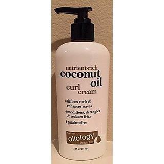 Oliology Coconut Oil Curl Cream, 7.8 Oz.