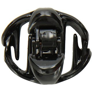 Caravan New! Standing Hair Gripper With Patent Covered Spring In Black