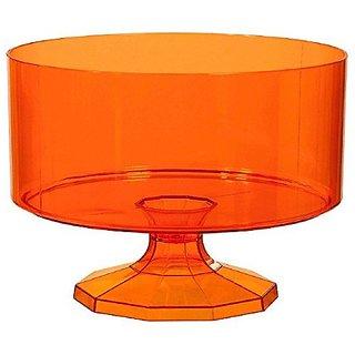 Amscan Medium Plastic Trifle Container Party Tableware, 80 oz, Orange
