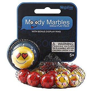 Love Moody Mibster Marbles Emoji Play Pack with Bonus Display Ring