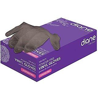 Diane D8360 Vinyl Powder-Free Gloves in Black - Small