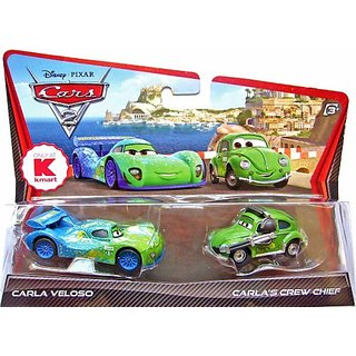Disney - Pixar CARS 2 Movie Exclusive 155 Die Cast Car 2Pack Carla Veloso Carlas Crew Chief