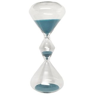 Hourglass Sand Timer - 15 Minute Teal Sand, 8 inches