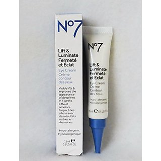 Boots No7 Lift and Luminate Eye Cream, 0.5 oz-15 ml