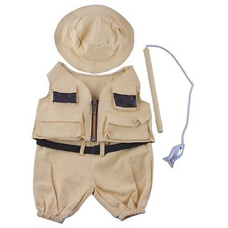 Fisherman w-Hat and Pole Outfit Teddy Bear Clothes Fit 14