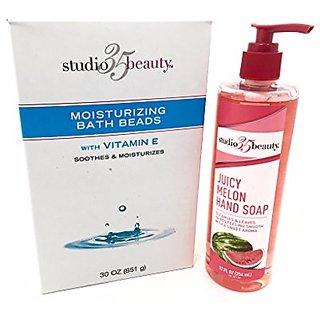 Studio 35 Beauty Moisturizing Bath Beads with Watermelon Hand Soap