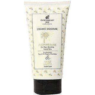 Caribbean Joe Organic Signature Purifying Mask for Dry-Sensitive Skin, 5.0 Ounce