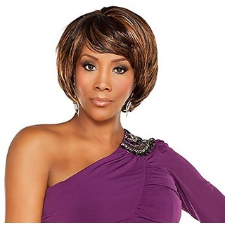 Vivica A Fox Mia-V Synthetic Fiber Pure Stretch Cap Wig, 4, 10.2 Ounce