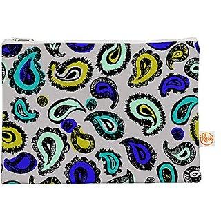 Kess InHouse Blue Fun Everything Bag Flat Pouch Gabriela Fuente, 8.5 by 6-Inch (GF1001AEP01)