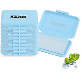 AZDENT Dental Orthodontics Wax for Braces Wearer Pack of 10-Mint Scent