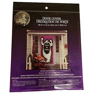 Halloween Door Cover Creepy Spooky Stickers Decor Home Window Gel Clings Decorations Haunted House GHOST
