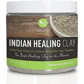 Bentonite Clay, Aztec Indian Healing Clay 16 Oz, 10 Recipe eBook Included