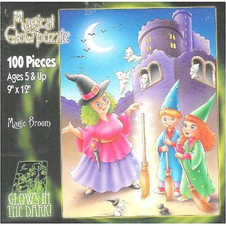 Magical Glow in the Dark Puzzle Magic Broom 100 Pieces