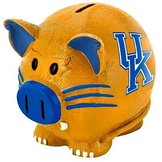 Forever Collectibles Large Thematic Piggy Bank - Kentucky Wildcats