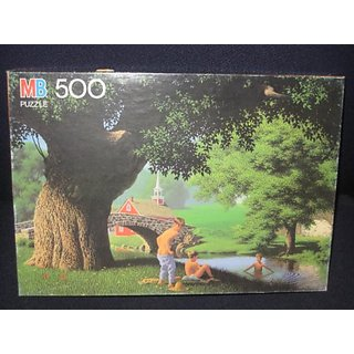 1987 MB Good Old Days - 500 Piece Puzzle - Swimming Hole