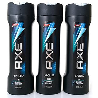 Axe Apollo 2 in 1 Shampoo + Conditioner, 12 Ounce (Pack of 3)