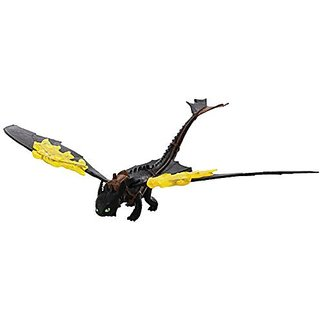 Dreamworks Dragons Action Dragon Figure, Toothless (Flaming Spin Attack)