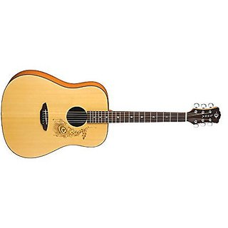Luna Gypsy Series Henna Dreadnought Acoustic Guitar
