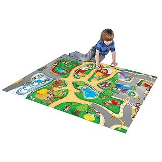 Fisher-Price Little People Play Mat with 2 Vehicles