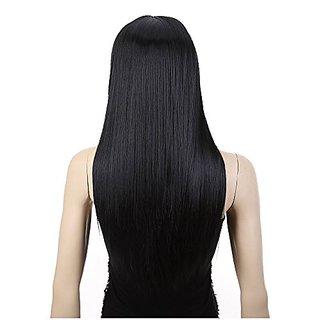 AGPtek 24 inch Straight Long Beautiful Black Wig Hair