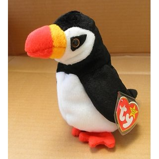 TY Beanie Babies Puffer the Puffin Stuffed Animal Plush Toy - 6 inches tall